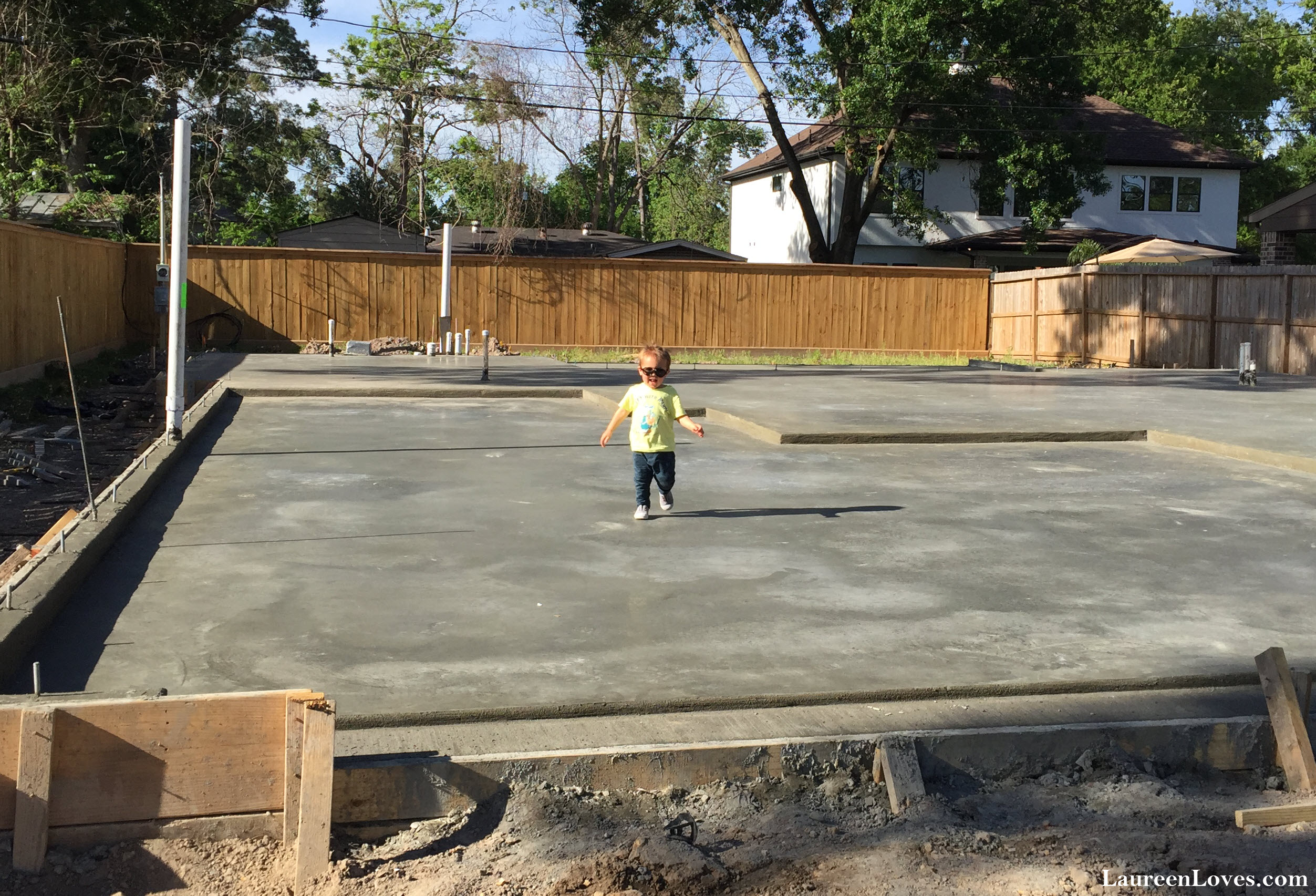 Braden Playing on the Slab