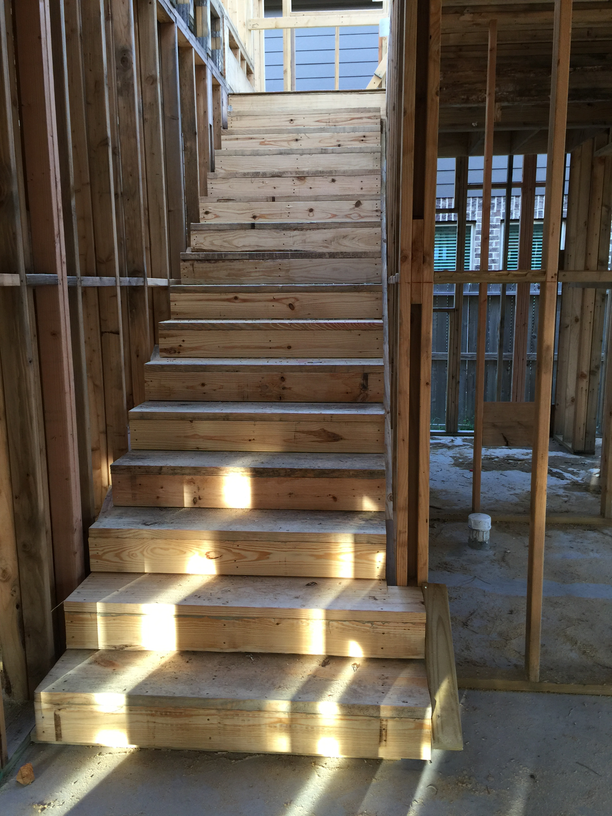 Stairs were just put in this week (as opposed the ladder which was making me a little nervous last week!)