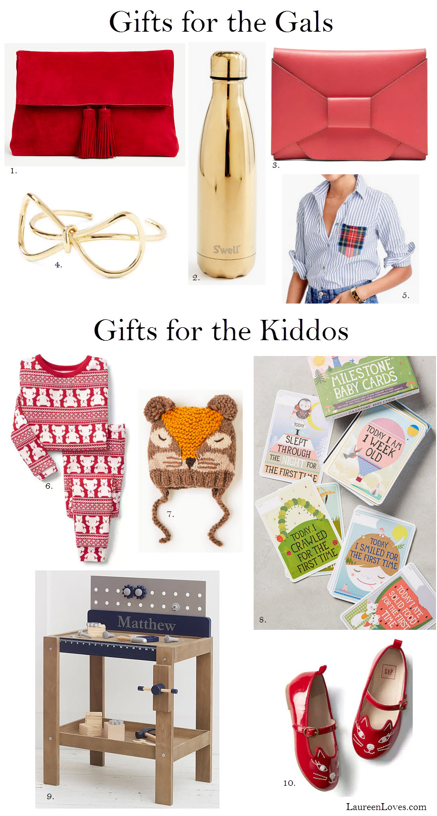 Gift Guide for Her + the Kiddos, Laureenloves.com