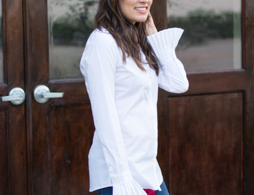 classic white shirt pleated cuff