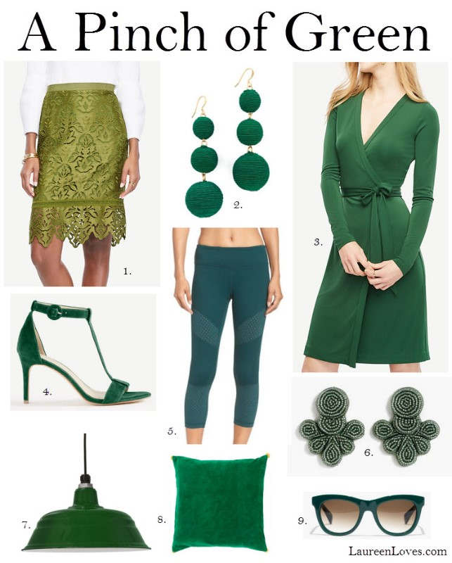 green accessories, green home accessories, green clothing