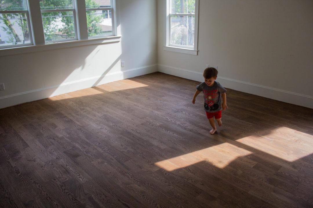 white oak, solid wood floors, custom home