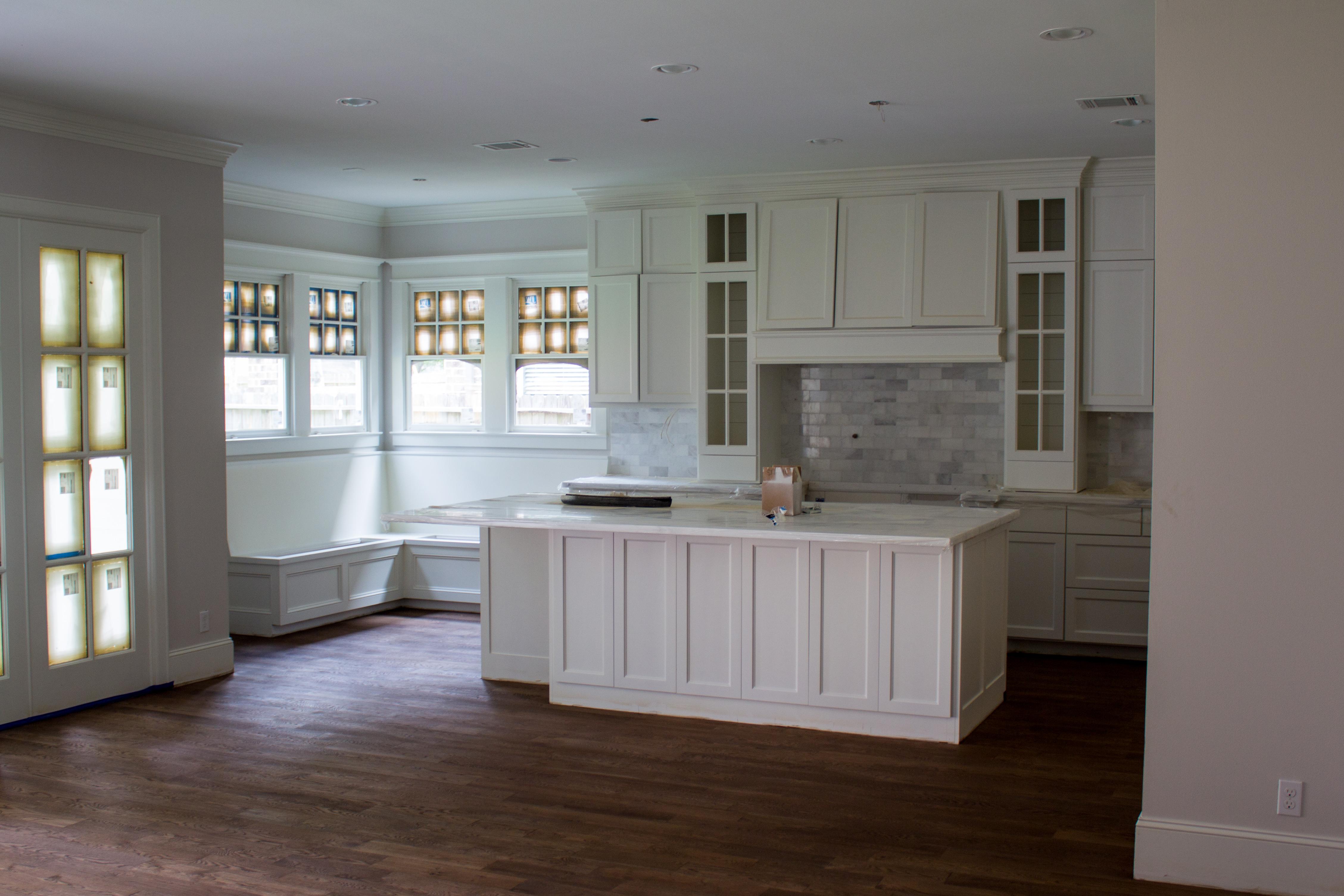 wood floors, white oak, custom home