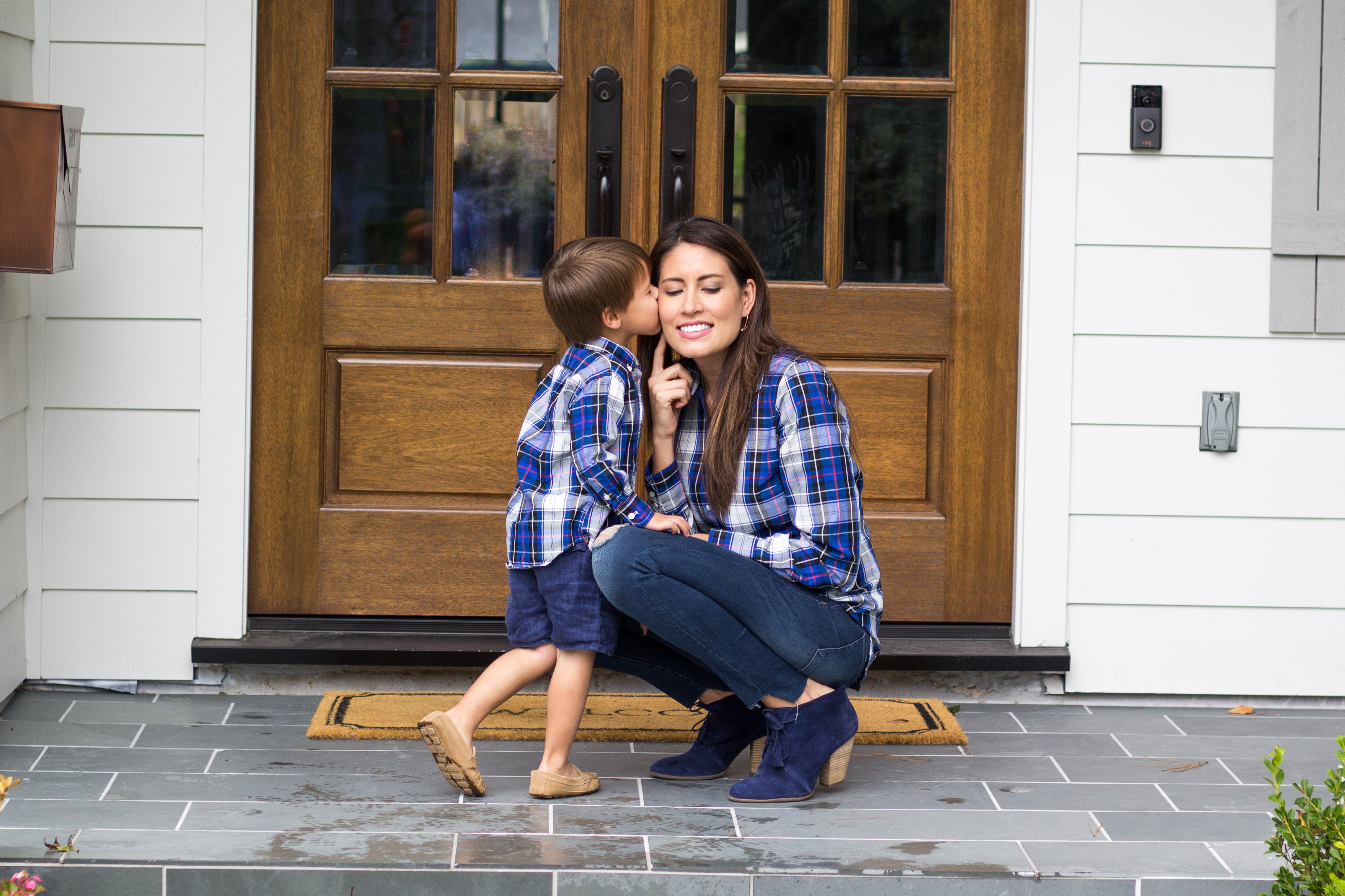 mom and me, toddler fashion, mom and toddler fashion, jcrew plaid shirt
