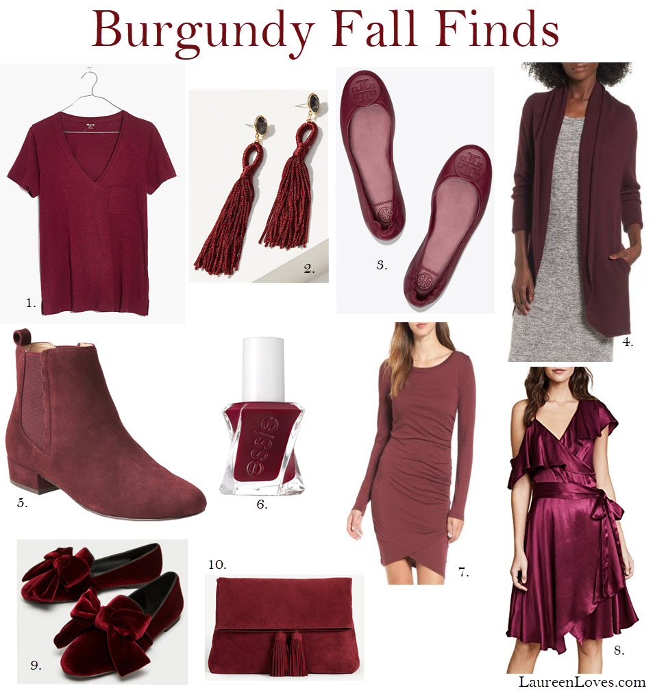 burgundy fall picks
