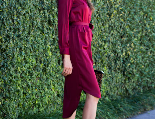 burgundy dress rachel parcell