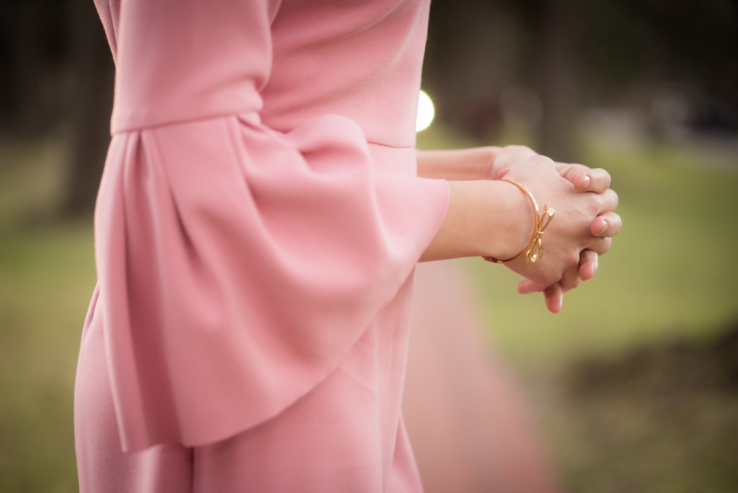 pink bell sleeve dress, spring dress